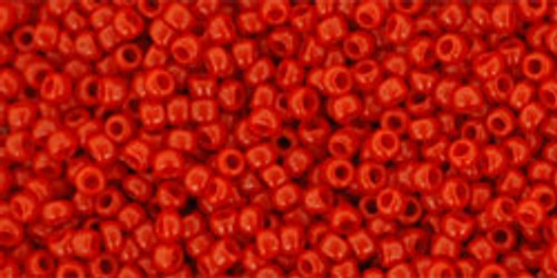 Toho Seed Beads 15/0 Rounds Opaque Pepper Red 9 gram