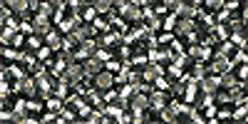 Toho Seed Beads 1.5 Cubes Silver Lined Gray 8 gram tube