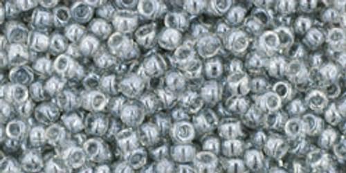 Toho Seed Beads 11/0 Round # 323 Transparent Lustered Blk Diamond 50g