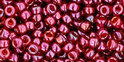 Toho Seed Beads 8/0 Rounds #98 Gold Lustered Raspberry 20 gram