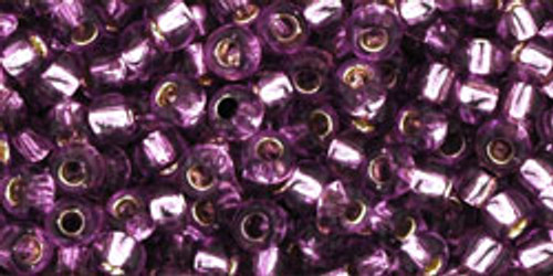 Toho Seed Beads 8/0 Rounds Silver Lined Light Grape 8 gram tube