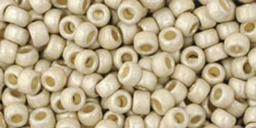 Toho Seed Beads 8/0 Rounds #100 Permanent Finish Matte Galvanized Aluminum 50 gram 9.00-Beada Beada