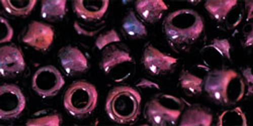 Toho Seed Beads 11/0 Rounds #330 Higher Metallic Dark Amethyst 50g