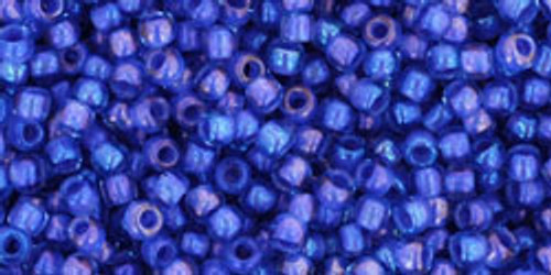 Toho Bead 11/0 Round #337 In-Rainbow Light Sapphire/Opaque Purple Lined 50 gm