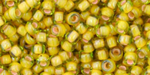 Toho Seed Beads 8/0 Rounds Inside Color Jonquil Apricot Lined