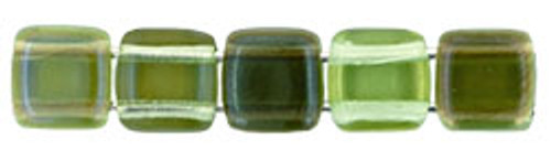 CzechMates 2-Hole 6 mm 'Twilight Peridot' 50 pc.