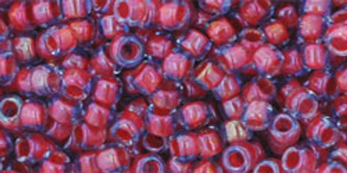 Toho Seed Beads 8/0 Rounds Inside-Color Light Sapphire/Hyacinth Lined