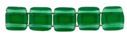 CzechMates 2-Hole 6mm Emerald 50pc.