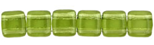 CzechMates 2-Hole 6mm Olivine 50pc.