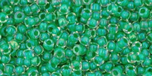 Toho Seed Beads 11/0 Rounds #303 Crystal Shamrock 20 gram pack