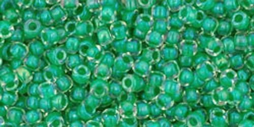 Toho Seed Bead Round 11/0 #303 Crystal Shamrock 50 gm