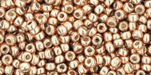Toho Beads 11/0 Rounds Permanent Finish Galvanized Rose Gold 8g