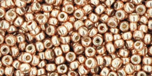 Toho Beads 11/0 Rounds Permanent Finish Galvanized Rose Gold 8g