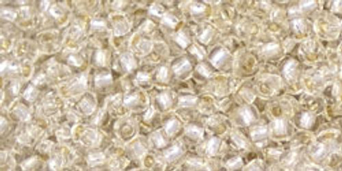 Toho Seed Beads 11/0 Rounds #344 Permanent Finish Silver Lined Crystal 20 gram