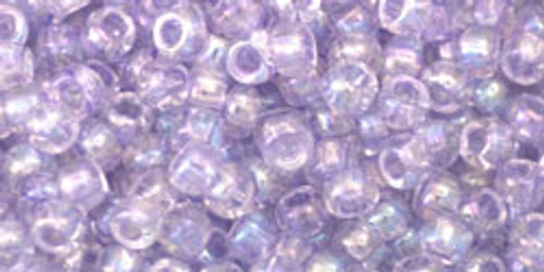 Toho Seed Beads 8/0 Rounds Dyed-Rainbow Lavender Mist