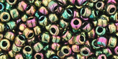 Toho Seed Beads 8/0 Rounds Higher-Metallic Iris Olivine