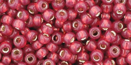 Toho Bulk Seed Beads 8/0 Rounds # 89 Silver Lined Milky Pomegranate 250 gram Factory pak