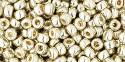 Toho Bulk Seed Beads 8/0 Rounds #38 Permanent Finish Galvanized Aluminum 250 gram Factory Pak