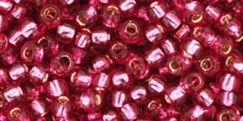 Toho Seed Beads 8/0 Rounds Silver Lined Mauve