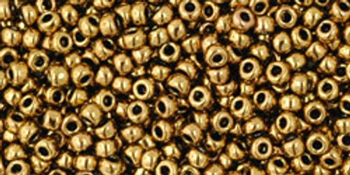Toho Bulk Seed Beads 11/0 Rounds #24 Antique Bronze 250 Factory Pak