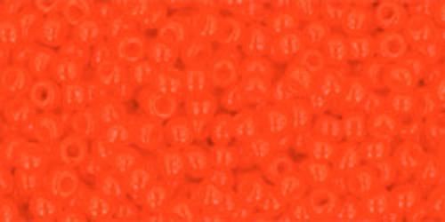 Toho Bulk Seed Beads 11/0 Rounds #188 Opaque Sunset Orange 250 gram Factory pak