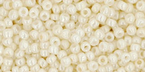 Toho Seed Beads 11/0 Rounds #240 Opaque Lustered Navajo White 250g