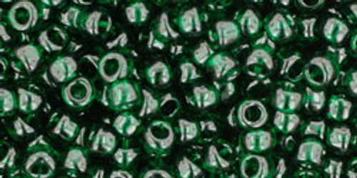 Toho Seed Beads 8/0 Rounds Transparent Green Emerald