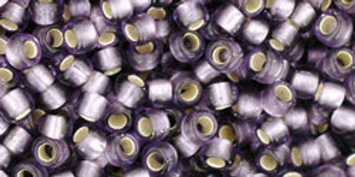 Toho Seed Beads 8/0 Rounds Silver Lined Frosted Tanzanite