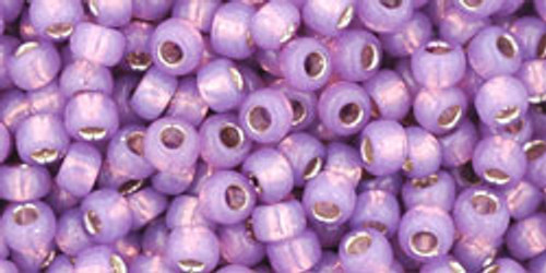 Toho Seed Beads 8/0 Rounds Silver Lined Milky Amethyst