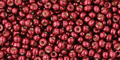 Toho Seed Beads 11/0 Rounds # 36 Permanent Finish Galvanized Brick Red 50 gram