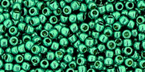 Toho Seed Bead 11/0 Round #360 Permanent Finish Galvanized Teal 20g