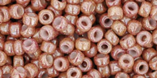 Toho Seed Beads 8/0 Rounds Marbled Opaque Beige/Pink