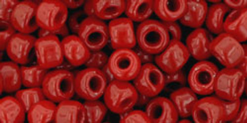Toho Seed Beads 6/0 Round #4 Opaque Pepper Red 50 gram