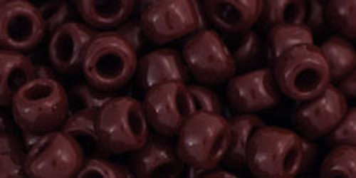 Toho Seed Beads 6/0 Round # 5 Opaque Oxblood 20 gram