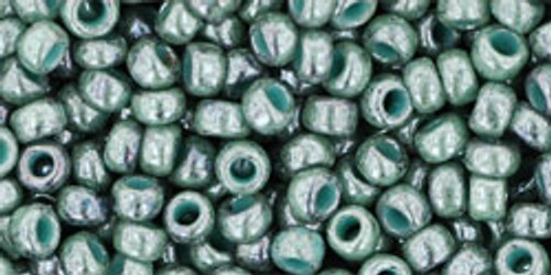 Toho Seed Beads 8/0 Rounds Marbled Opaque Turquoise/Blue