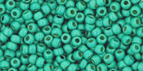 Toho Bead 11/0 Round #359 Permanent Finish Matte Galvanized Green Teal 50g