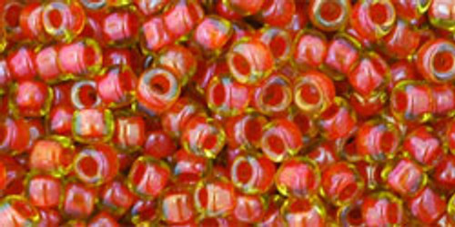 Toho Seed Beads 8/0 Rounds #125 In-Jonquil/Hyacinth Lined 50 gram