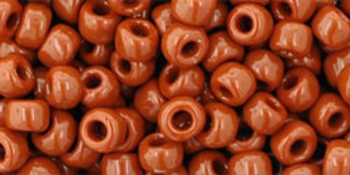 Toho Seed Beads 6/0 Rounds #6 Opaque Terra Cotta 50 gram