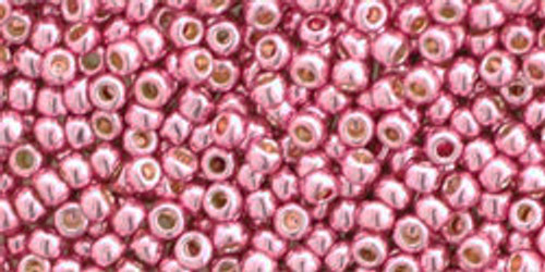 Toho Seed Beads 11/0 Round Permanent Finish Galvanized Pink Lilac 8g