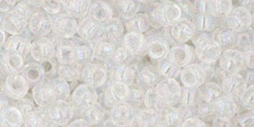 Toho Bulk Beads 8/0 Round #50 Transparent Rainbow Crystal 250g