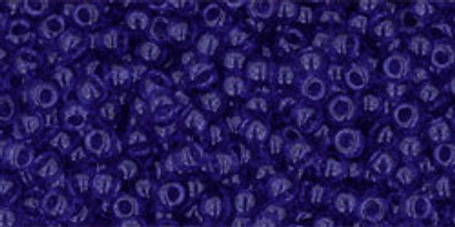 Toho Bulk Beads 11/0 #221 Transparent Cobalt 250 Gram Factory Pak