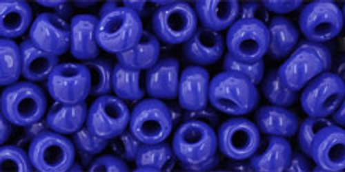 Toho Seed Beads 6/0 Round #17 Opaque Navy Blue 50g Pack