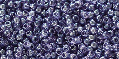 Toho  Seed Bead 11/0 Round #367 Transparent Lustered Sugar Plum 20 grams