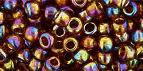 Toho Bead 6/0 Round #24 Transparent Rainbow Smoky Topaz 20 gram