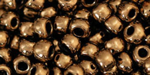 Toho Bulk Seed Beads 6/0 Rounds #25 Bronze 250 gram Factory Pak