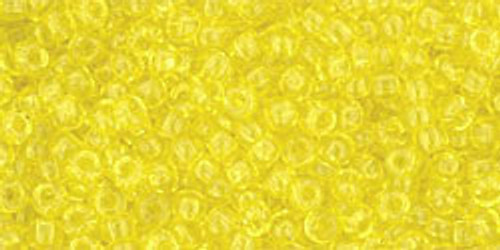 Toho Seed Beads 11/0 Rounds Transparent Lemon