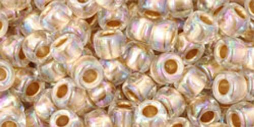 Toho Seed Beads 6/0 Round #30 Gold Lined Rainbow Crystal 20 gram