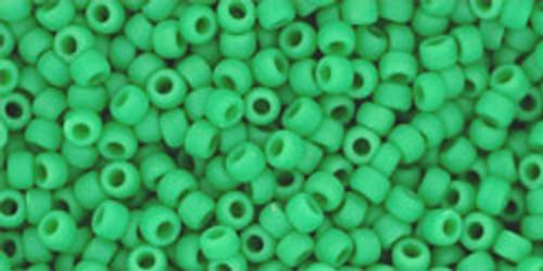 Toho Seed Beads 11/0 Round Opaque Frosted Shamrock 8 gram tube