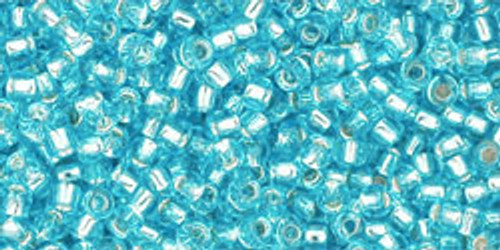 Toho Seed Beads 11/0 Rounds Silver-Lined Aquamarine