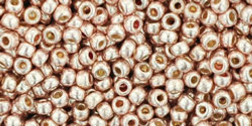 Toho Beads 11/0 Round Permanent Finish Galvanized Sweet Blush 8g